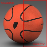 Basketball ball star orange 3D Model