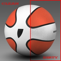 Basketball ball Star bicolor 3D Model