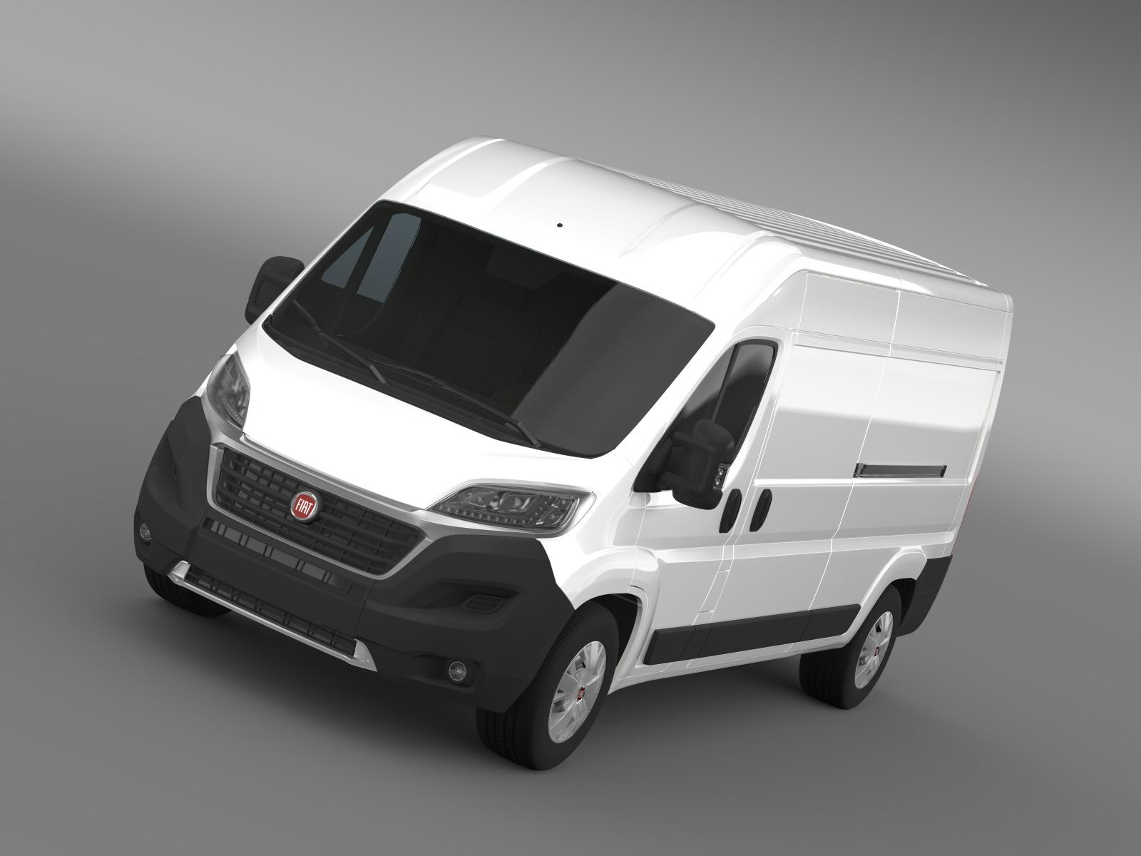fiat ducato van l3h2 2015 3d model. Black Bedroom Furniture Sets. Home Design Ideas