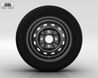 Daewoo Matiz Wheel 13 inch 001 3D Model