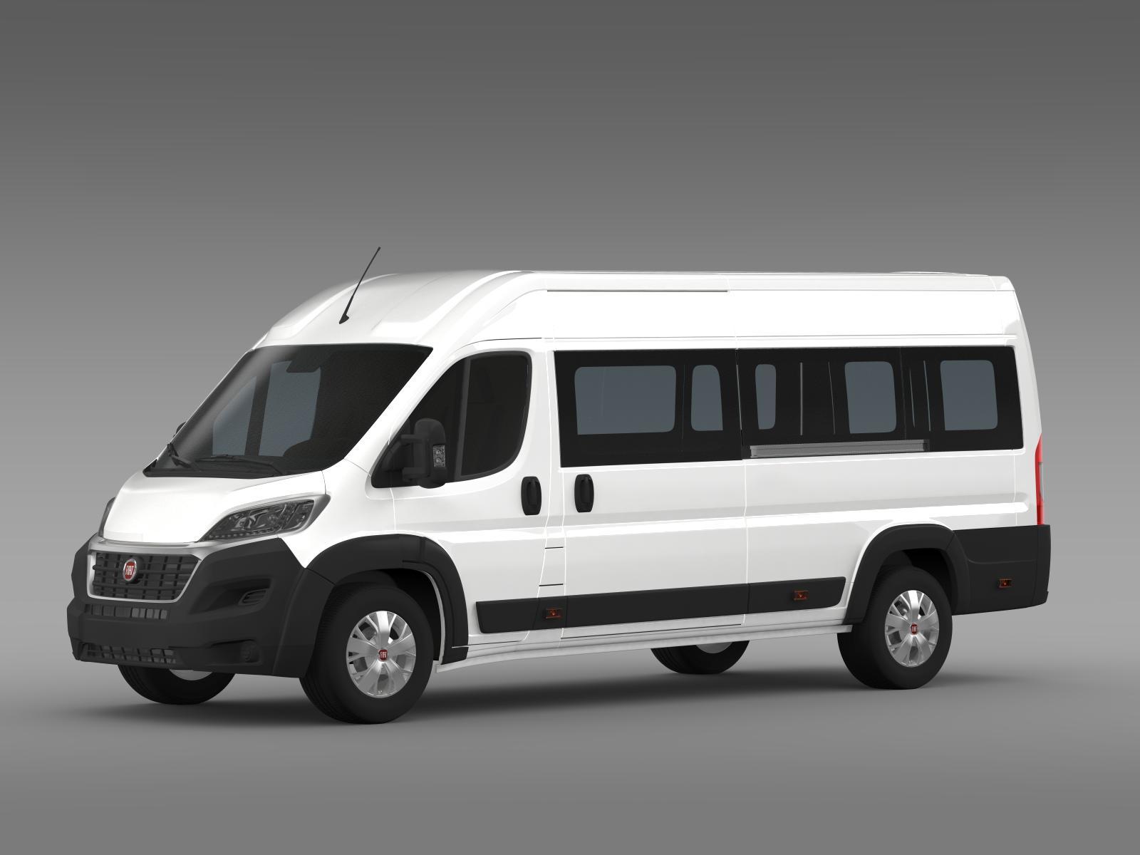 fiat ducato maxi minibus 2015 3d model. Black Bedroom Furniture Sets. Home Design Ideas