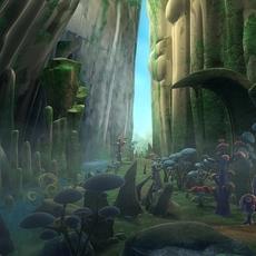 Waterfall Scene 3D Model