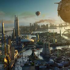 Sci Fi City 3D Model