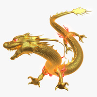 Chinese Golden Dragon 3D Model