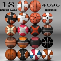 Basketball ball Set 3D Model