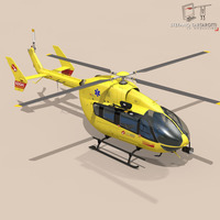 EC145 air ambulance 3D Model