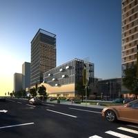High Rise Office Building 005 3D Model