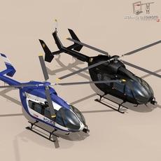 EC145 law enforcement 3D Model
