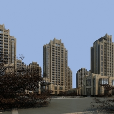 High Rise Residential Building 108 3D Model