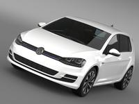 VW Golf BlueMotion Concept Typ 5G 2012 3D Model
