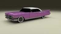 1959 Cadillac Eldorado Series 62 Convertible 3D Model