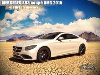 Mercedes S63 AMG 2015 + Environment 3D Model