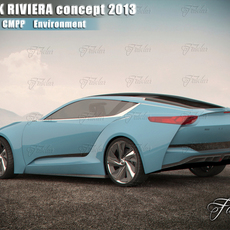 Buick Riviera concept 2013 . Vray, mentalray, multiple import formats. 3D Model