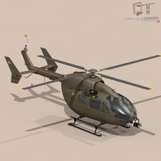 UH72 Lakota 3D Model