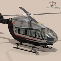 EC145 air executive 3D Model