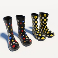 Flowery Wellies 3D Model
