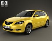 Mazda 3 hatchback 2003 3D Model