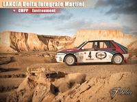 Lancia Delta Martini + Environment 3D Model