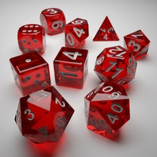Role Playing Dice - Complete Set - 3D Print Ready 3D Model