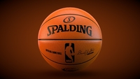 Spalding NBA Official game ball 3D Model
