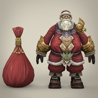 Fantasy Santa Claus with Bag 3D Model