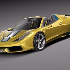 Ferrari 458 Speciale A 2015 3D Model