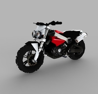 Low poly Brutus Bike 3D Model