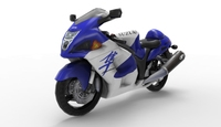 Hayabusa low poly Model 3D Model
