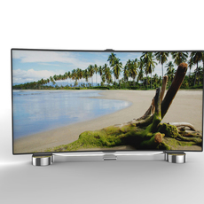 Generic Smart TV Curved 3D Model