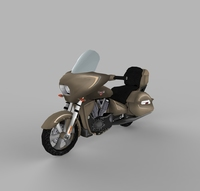 Victory Cross country Bike Low poly 3D Model