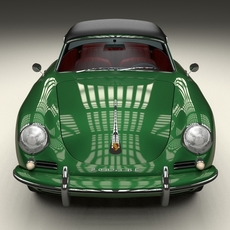 Porsche 356 Cabriolet 3D Model