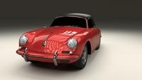 Porsche 356 Cabrio 3D Model