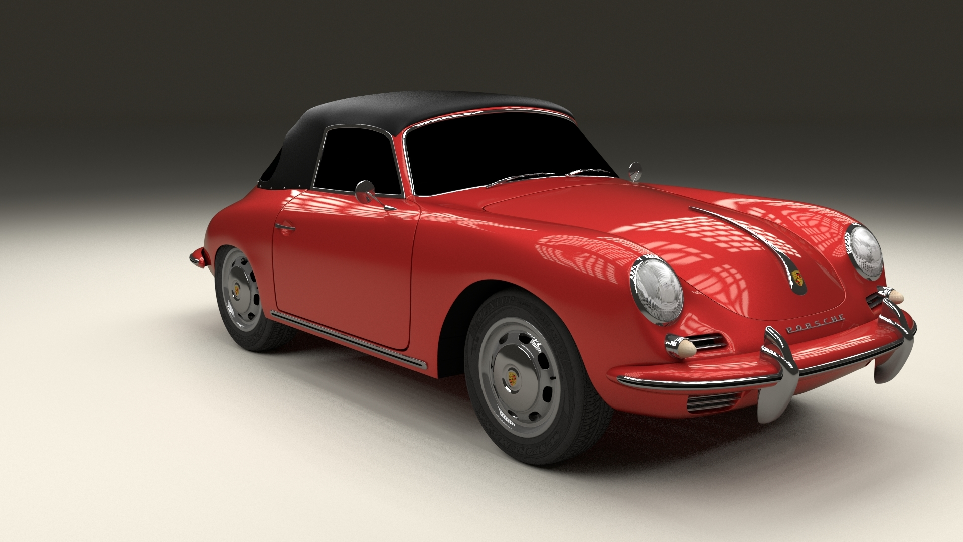 porsche 356 cabrio 3d model. Black Bedroom Furniture Sets. Home Design Ideas