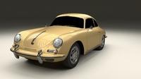 Porsche 356 Coupe 3D Model