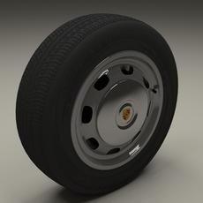 Porsche 356 Wheel 3D Model