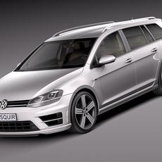 Volkswagen Golf VII R Variant 2015 3D Model