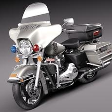 Harley-Davidson Electra Glide Police 2013 3D Model