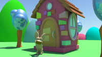 Free Cartoon house for Maya 2.1.1