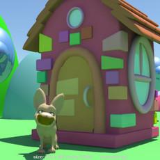 Cartoon house for Maya 2.1.1