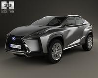 Lexus LF-NX 2013 3D Model
