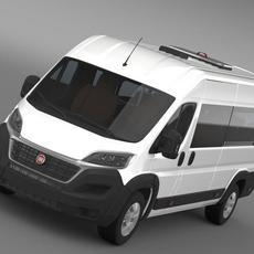 Fiat Ducato Scuolabus 2015 3D Model