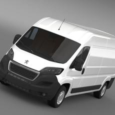 Peugeot Boxer Van L3H2 2014 3D Model