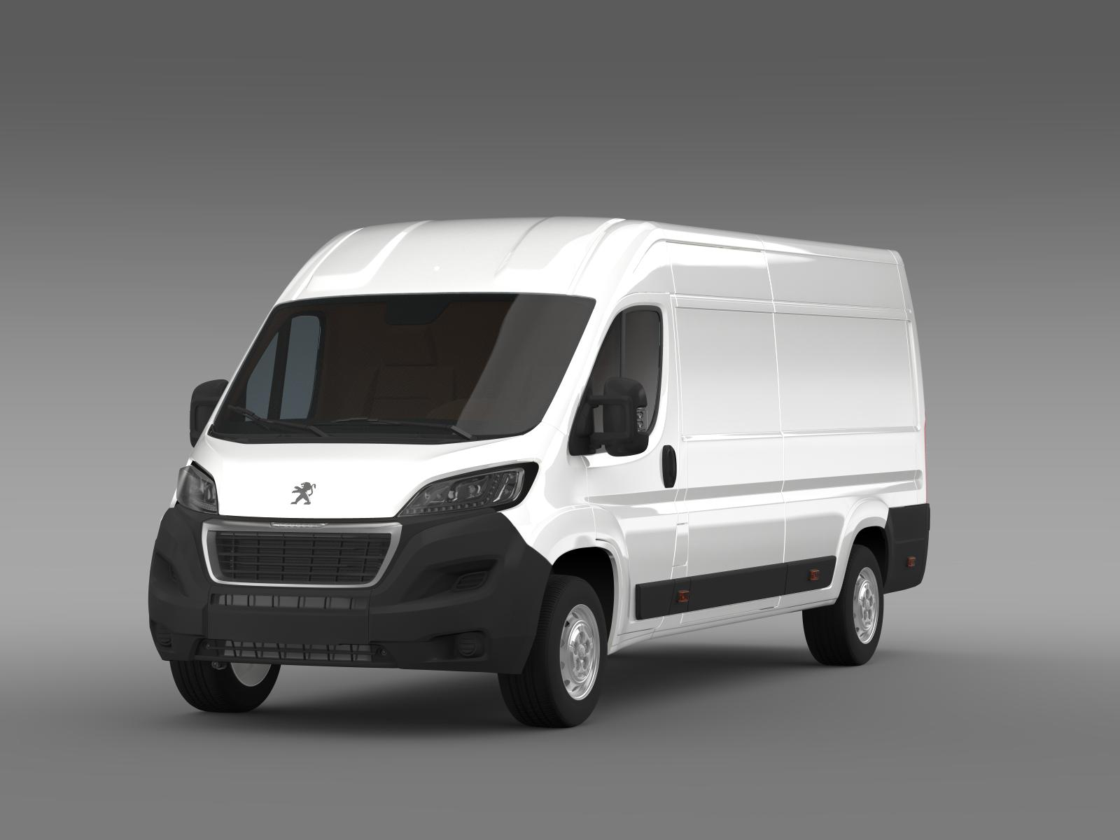 peugeot boxer van l4h2 2014 3d model. Black Bedroom Furniture Sets. Home Design Ideas