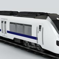 Generic Commuter Train 3D Model