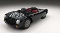 Porsche 550 Spyder black 3D Model