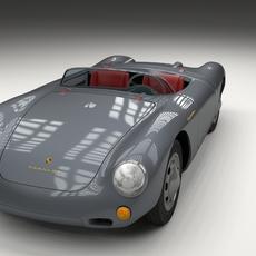 Porsche 550 Spyder gray 3D Model