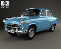 AZLK Moskvitch 402 1956 3D Model