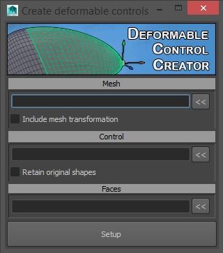 Deforming control creator for Maya