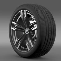 BMW M6 Gran Coupe wheel 3D Model