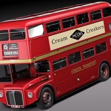Routemaster London Double Decker Bus 3D Model